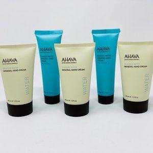 5PC- Ahava hand creams-2 seakissed/3 deadsea water